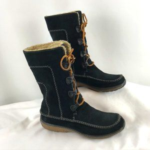 Timberland Black Suede Sherpa-Lined Boots